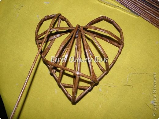Это мой усовершенствованный и уже немного систематизированный вариант плетенного сердца. фото 11