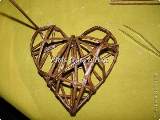 Это мой усовершенствованный  и уже немного систематизированный вариант плетенного сердца. фото 12