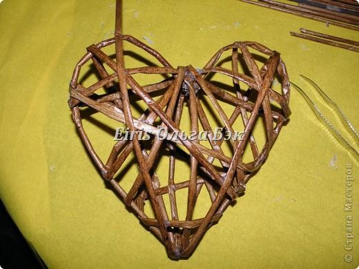 Это мой усовершенствованный  и уже немного систематизированный вариант плетенного сердца. фото 13