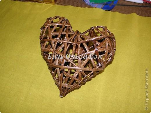 Это мой усовершенствованный и уже немного систематизированный вариант плетенного сердца. фото 14