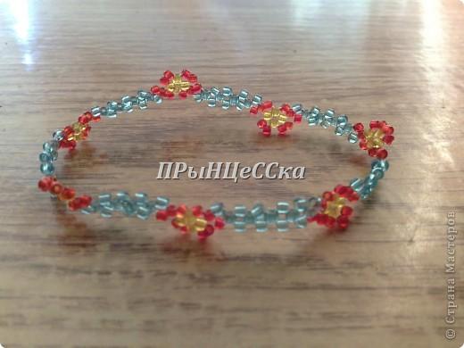 """браслет """"Весенние цветы"""" фото 1"""