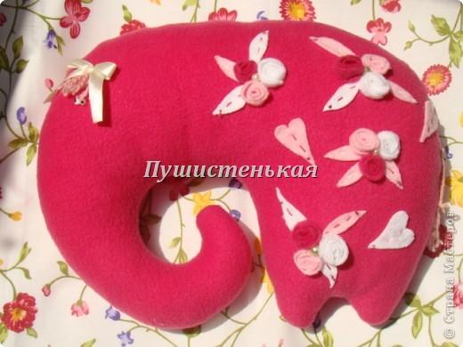 слон-хоботун ромаааантииик!!! или слониха.....???? все равно хороша!!!))) Ткань-флис. Размер 50х40см.  фото 1