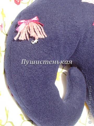 слон-хоботун ромаааантииик!!! или слониха.....???? все равно хороша!!!))) Ткань-флис. Размер 50х40см.  фото 7