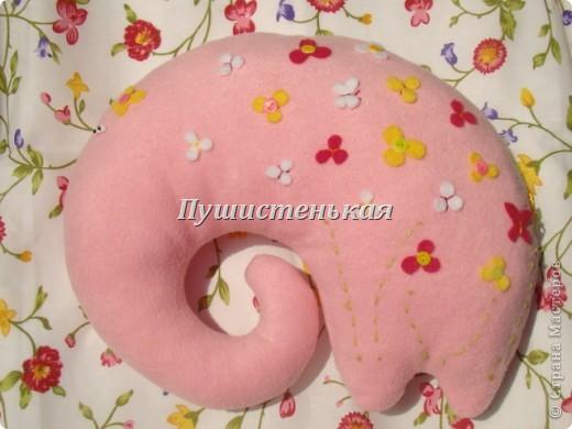 слон-хоботун ромаааантииик!!! или слониха.....???? все равно хороша!!!))) Ткань-флис. Размер 50х40см.  фото 8