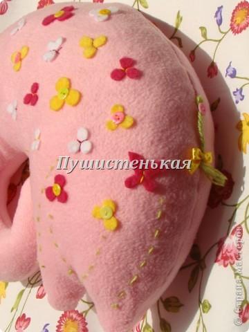 слон-хоботун ромаааантииик!!! или слониха.....???? все равно хороша!!!))) Ткань-флис. Размер 50х40см.  фото 9