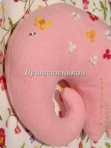 слон-хоботун ромаааантииик!!! или слониха.....???? все равно хороша!!!))) Ткань-флис. Размер 50х40см.  фото 10