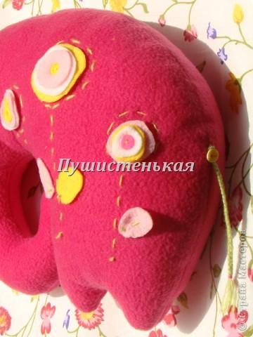 слон-хоботун ромаааантииик!!! или слониха.....???? все равно хороша!!!))) Ткань-флис. Размер 50х40см.  фото 12