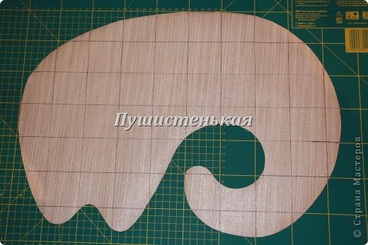 слон-хоботун ромаааантииик!!! или слониха.....???? все равно хороша!!!))) Ткань-флис. Размер 50х40см.  фото 14