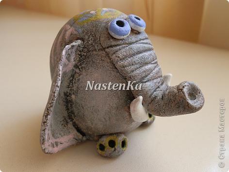 Такого красавца-слоника увидела в Интернете и себе слепила. фото 3