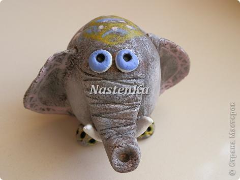 Такого красавца-слоника увидела в Интернете и себе слепила. фото 4