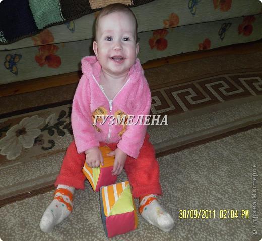 Сегодня у моей маленькой Сонечки Именины.  Решила порадовать ее новой игрушкой.  Вот такие кубики у меня сегодня получились. фото 9