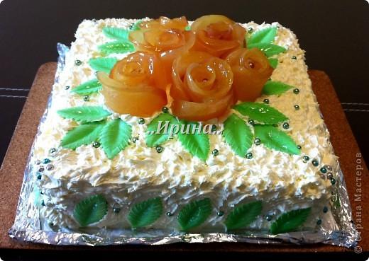 а этот тортик тоже готовился вместе с предыдущим, но так сфоткать и не успела, уж очень быстро его съели))) фото 2