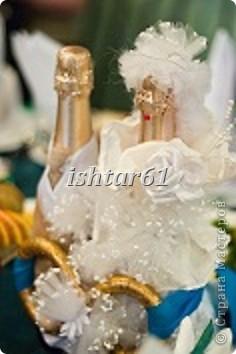 Декор свадебных бутылок фото 1