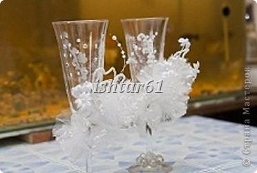 Декор свадебных бутылок фото 2
