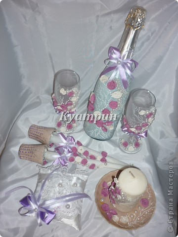 Набор свадебный сиреневый фото 1
