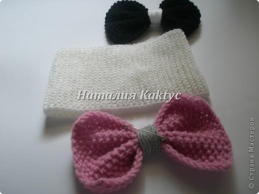 Повязочка на голову для девочки с бантиками которые можно снимать и менять. фото 3