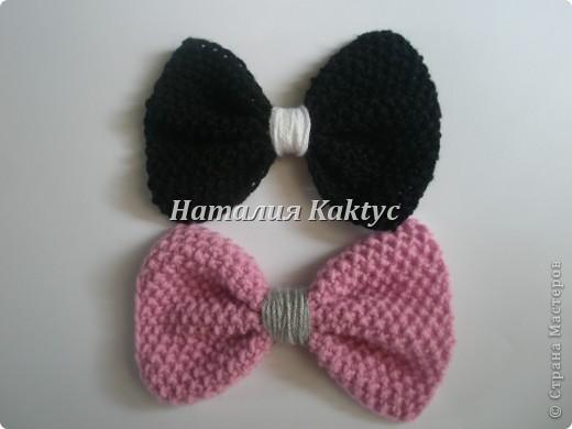 Повязочка на голову для девочки с бантиками которые можно снимать и менять. фото 4