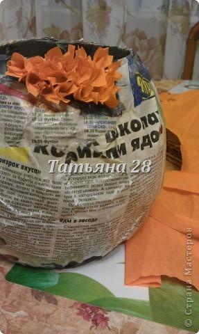 """5 октября в школе праздник День учителя!!! Как всегда конкурс """"Осенний букет"""". В этот раз решили сделать сами, не используя живые цветы. фото 10"""