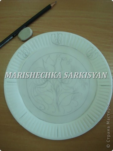 (МК) Мастер-клас по петриковской росписи. Роспись декоративной тарелочки.  фото 4
