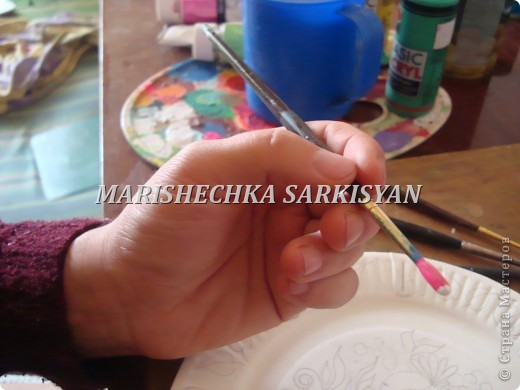 (МК) Мастер-клас по петриковской росписи. Роспись декоративной тарелочки.  фото 7