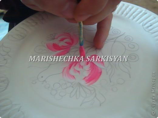 (МК) Мастер-клас по петриковской росписи. Роспись декоративной тарелочки.  фото 9