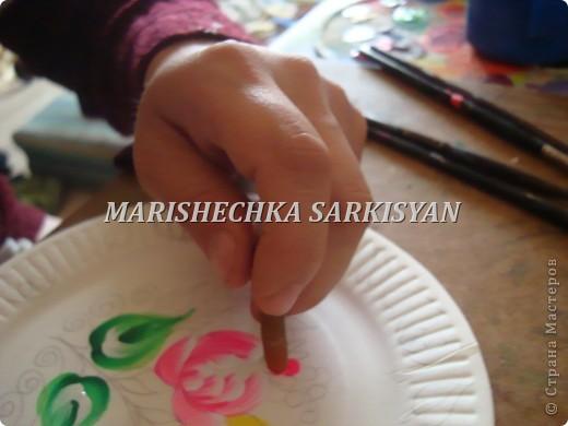 (МК) Мастер-клас по петриковской росписи. Роспись декоративной тарелочки.  фото 13