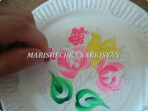 (МК) Мастер-клас по петриковской росписи. Роспись декоративной тарелочки.  фото 14