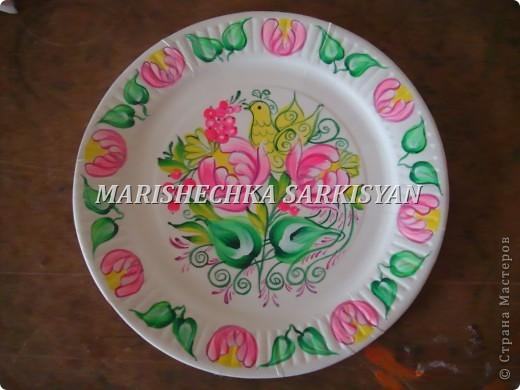 (МК) Мастер-клас по петриковской росписи. Роспись декоративной тарелочки.  фото 18