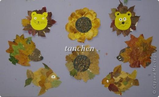 осенние деревья,выполненные на бархатной бумаге детьми  4-5 лет фото 6