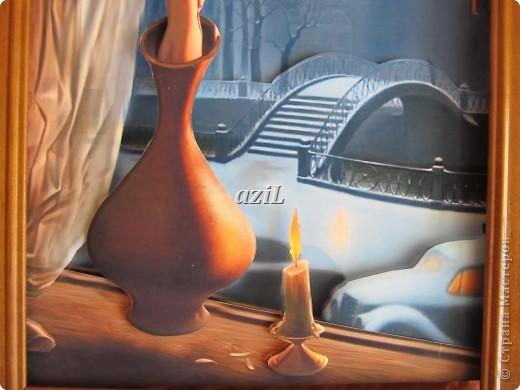 Доброе утро всем Мастерицам! Я к вам с моей любимой композицией, так меня за душу взяла эта картинка, руки зачесались :)), автора к сожалению не знаю.  фото 4