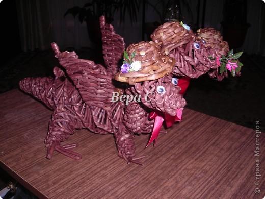 Предлагаю к новому году сплести  дракончика упрощенным методом. фото 1