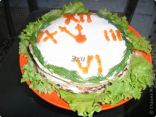 Блинный пирог с сёмгой!!!!! фото 1