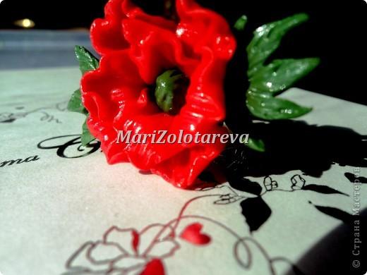 """Кольцо """"Красный мак"""""""