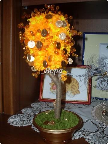 Крона дерева не круглая так как в тот вечер у нас мячики закончились,мы решили сделать крону из пластиковой банки)) фото 1