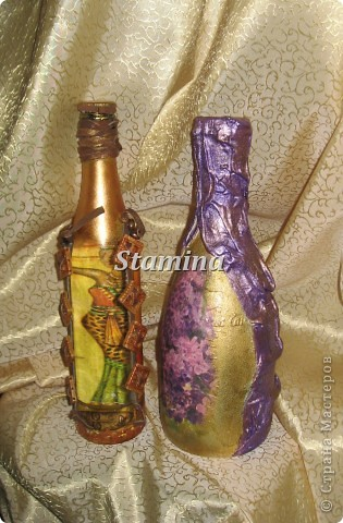 """Меня так увлек декупаж на бутылочках..что теперь все родственники озадачены поиском """"тары"""" :)))  фото 1"""