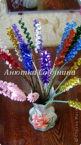 Мастер-класс Поделка изделие Бисероплетение Цветы из бисера и пайеток Бисер Пайетки Проволока фото 23.