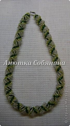 Украшение Плетение Жгуты из бисера рубки и стекляруса Бисер фото 14.