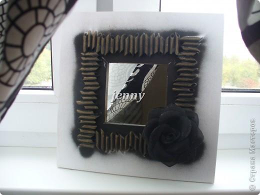 Сама случилась штора на кухню и декоративный элемент в поддержку -  зеркало фото 2