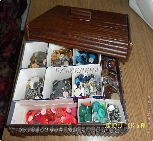 Очень полезная коробочка получилась, для хранения пуговиц фото 2