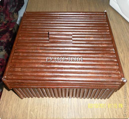 Очень полезная коробочка получилась, для хранения пуговиц фото 11
