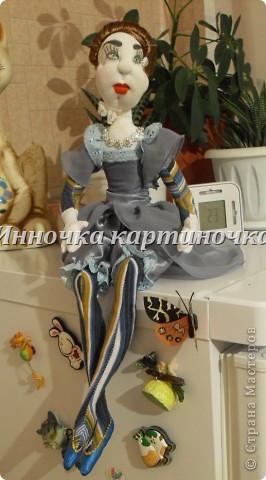Вот такая куколка поселилась на холодильнике. Очень долгожданная и крапотливая работа была проделана. фото 1