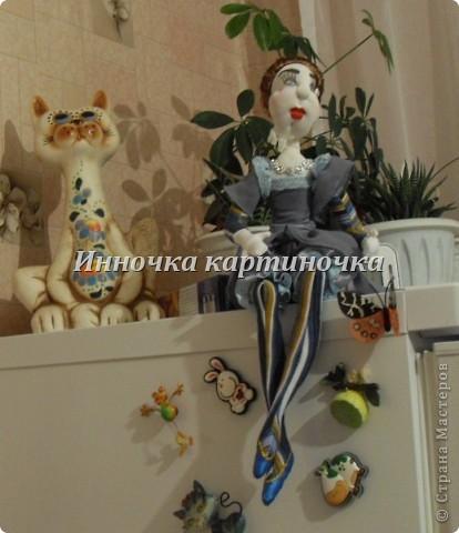 Вот такая куколка поселилась на холодильнике. Очень долгожданная и крапотливая работа была проделана. фото 9
