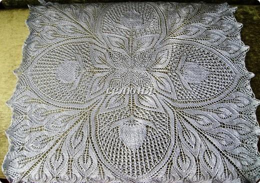 Вязание Скатерть-шаль Нитки