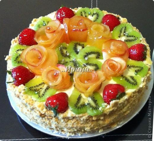 Торт с фруктами)
