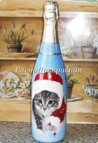 А вот и первая новогодняя в этом году бутылочка! надеюсь, их будет много! Чтобы смогла поздравить всех близких! фото 1