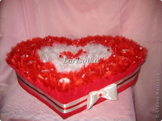 Сердце для молодой девушки на День рождения, 24 конфеты  Рафаэлло. фото 2