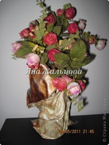 ваза из старой кожаной куртки фото 3