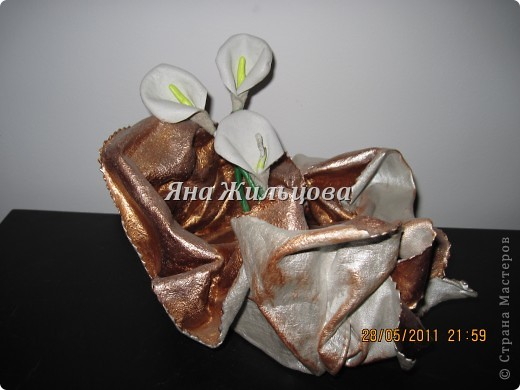 вазочка из кожи фото 2