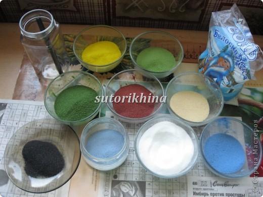 данную технику из соли не могла никак решиться попробовать, видела несколько работ с песком (сувениры различные)  фото 2