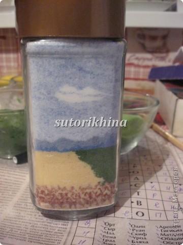 данную технику из соли не могла никак решиться попробовать, видела несколько работ с песком (сувениры различные)  фото 10
